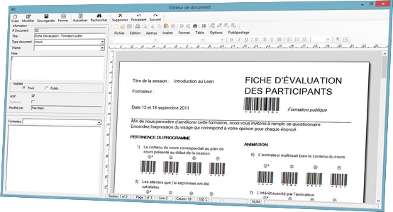 Document Editeur